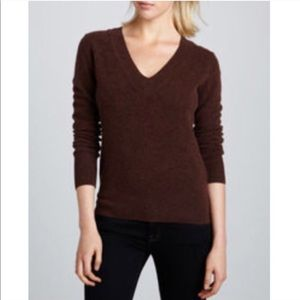 Theory | Brown Wool V-Neck Sweater - Size S